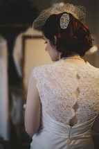 back of a bride