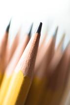 sharpened pencils leads