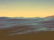 surface of ocean water