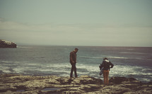 Couple looking at the ocean | Family | Marriage | Man | Woman | Love | Relationships