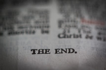 The end of a book text.