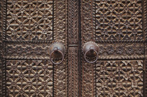 Ornate double doors.