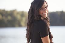smiling brunette