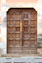 Ancient wooden doors