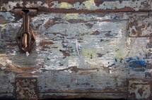 rusty latch on a trunk