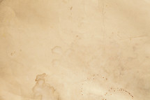 water stains on vintage paper.
