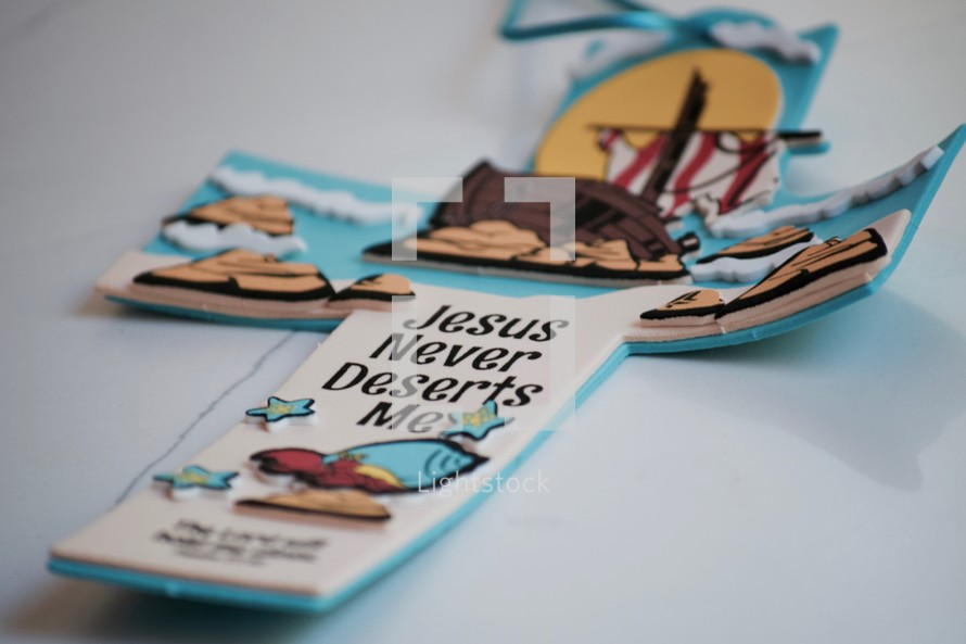 Jesus Never Deserts Me VBS cross craft