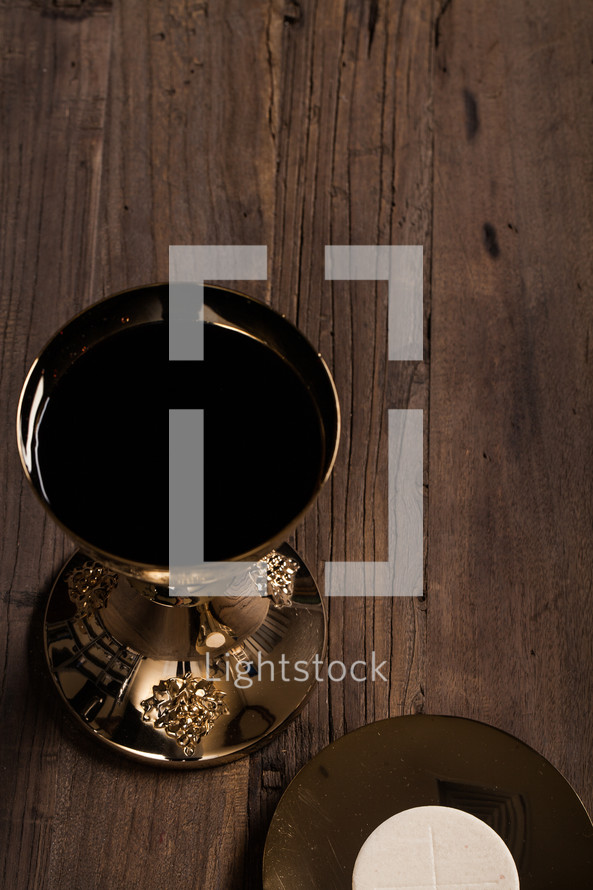 host and chalice for eucharist