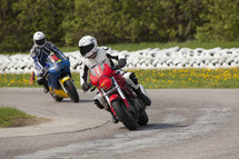 racing on motorcycles