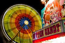 spinning light from a fair ride