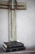 cross and Bibles