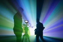 videographer recording a concert