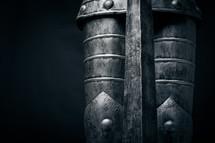 Metal armor.