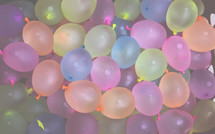 filled water balloons