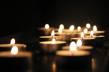 Candles burning brightly