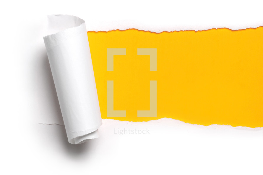 ripped paper and yellow