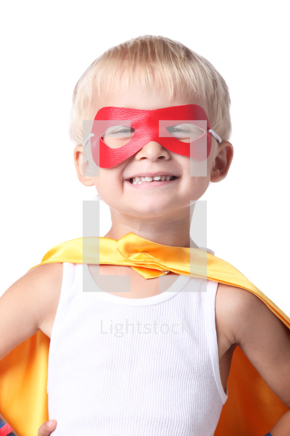 smiling superhero
