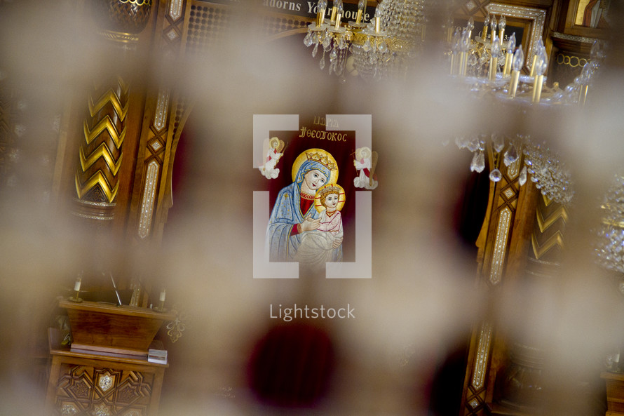 Decorative Christian symbols.