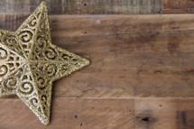 gold star on a wood floor