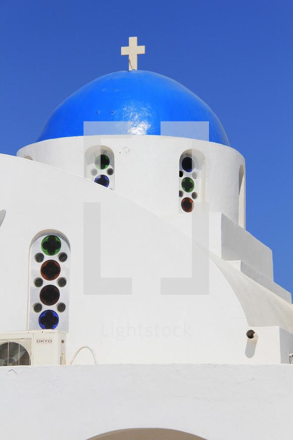 dome steeple on Greek church
