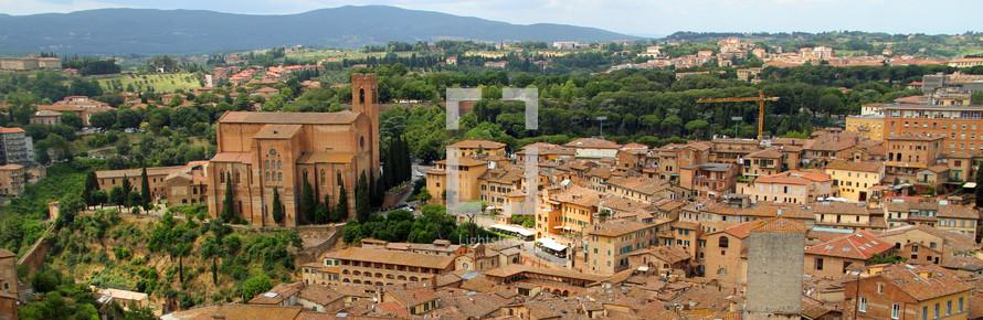 panorama of an Italian Village