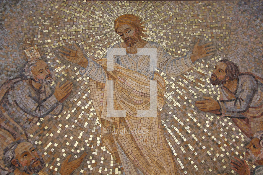 Mosaic of Jesus appearing to his disciples after his death and resurrection.