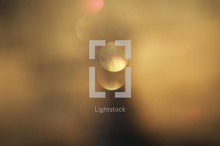 bokeh golden white lights