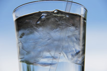 ice cold glass of water