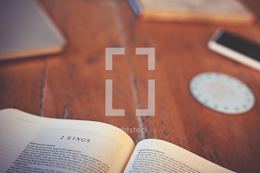 Bible opened to 2 Kings