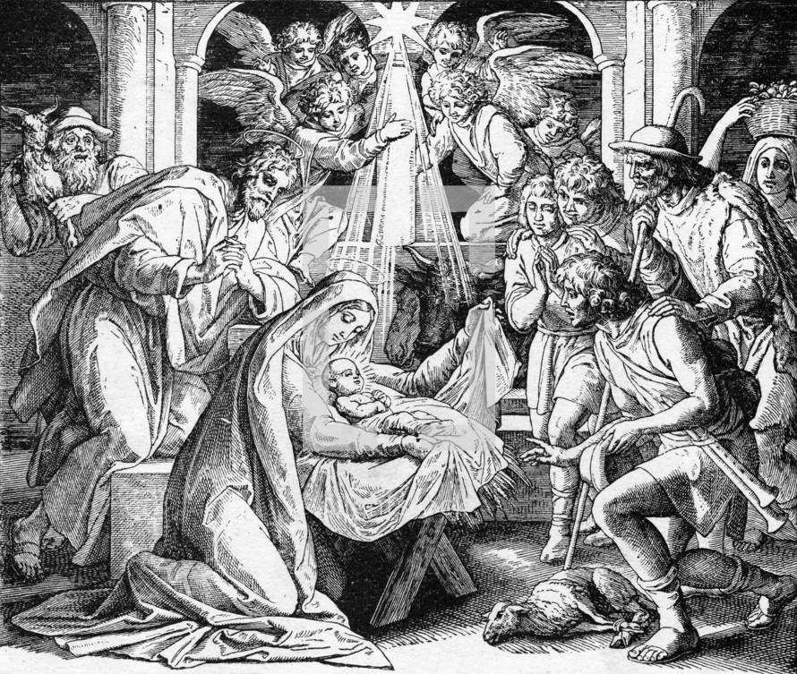 Birth of Jesus, Luke 2: 7