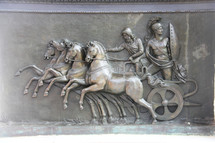 Brass plate depicting a Greek chariot