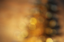 bokeh golden yellow white lights