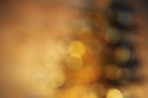 bokeh golden yellow white lights