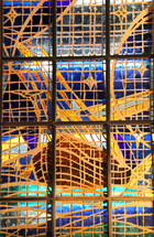 Glass window of Noah's Ark