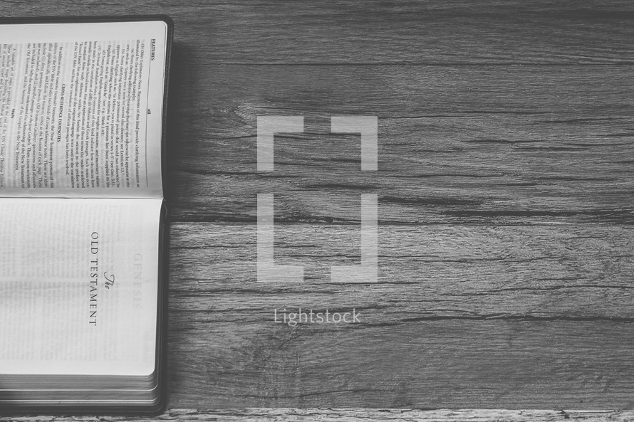 Sideways Bible opened to The Old Testament