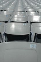 rows of seats in a stadium
