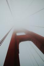 San Francisco Golden Gate bridge in sunlight and fog