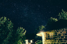Starry Night Over Village