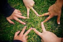 hands making a star shape