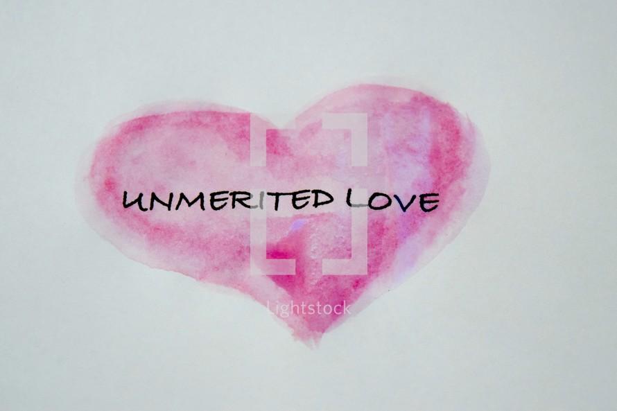 unmerited love