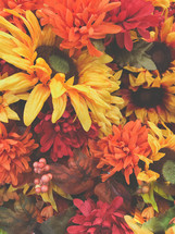 fall flowers background