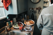 breakfast in a kitchen