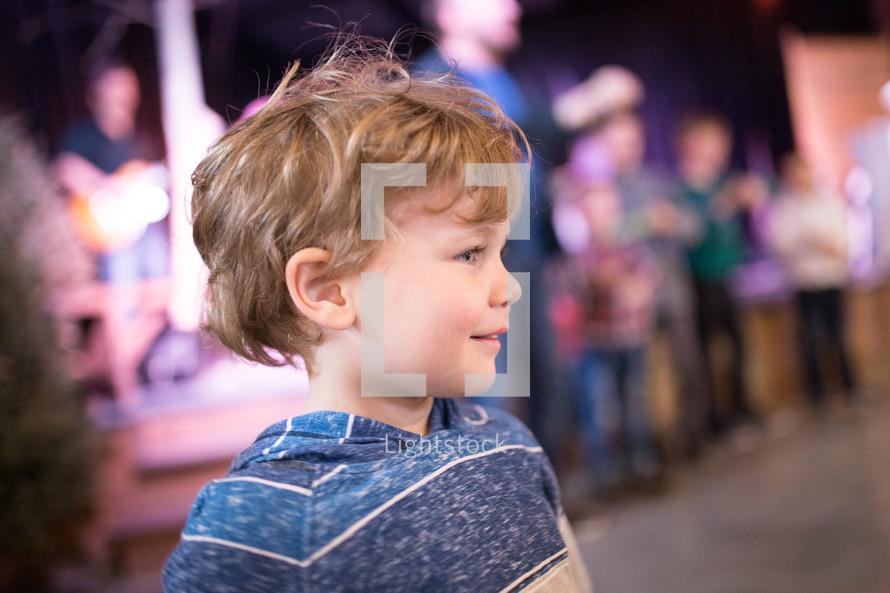 children dancing to worship music
