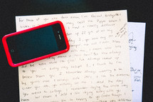 iPhone and letter