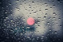 rain on a window