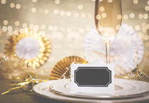 Celebration Champagne Meal Background
