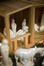 porcelain nativity scene