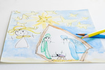 child's artwork of the Nativity