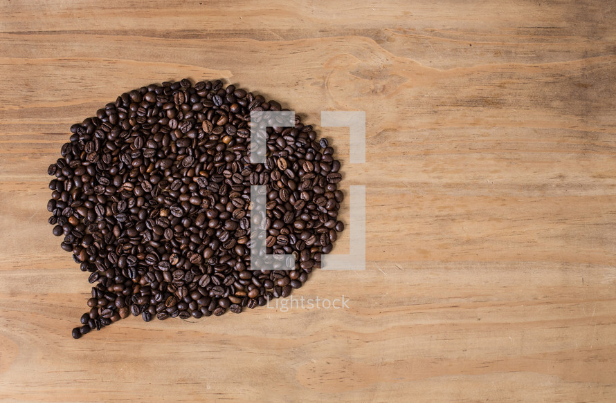 Coffee beans in a balloon formation.