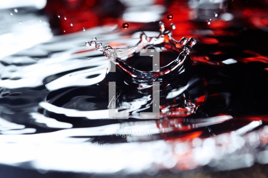 water droplet splash